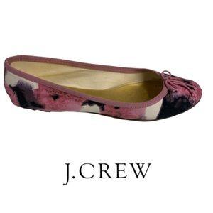 Women's J Crew Floral Ballet Flats Size 9 EUC